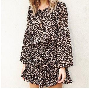 Buddy Love leopard print dress EUC!